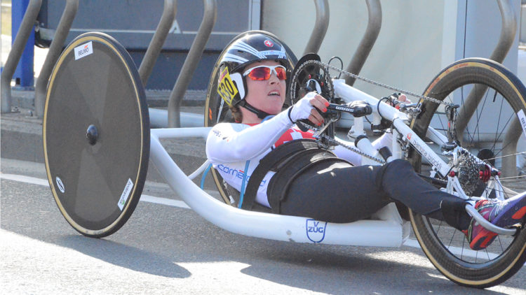 Sandra Stöckli Para-Cycling V-ZUG Sponsoring