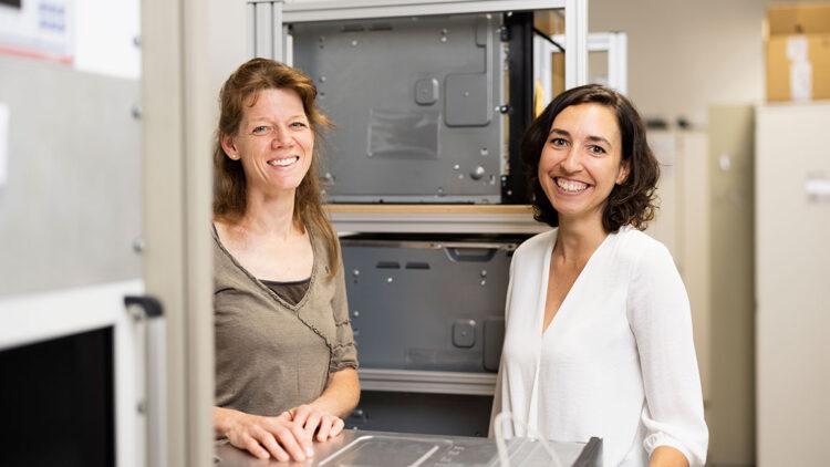 Sonja Haucke et Janika Merz, développement des techniques d'application V-ZUG AG